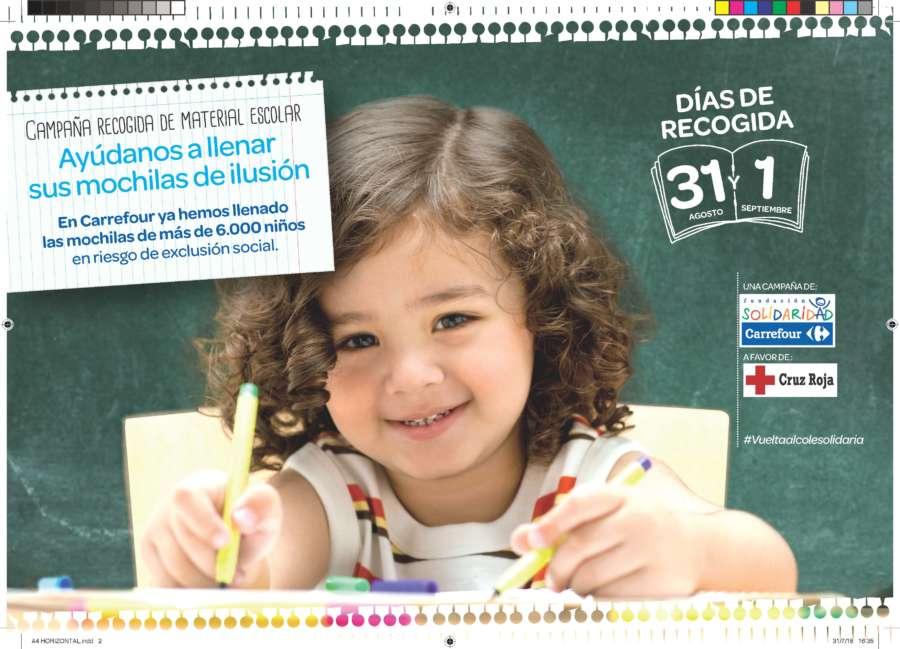 Carrefour y Cruz Roja promueven la X edición de la 'Vuelta al Cole Solidaria' en Navarra