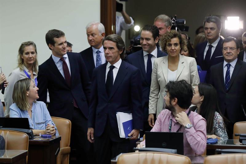 Aznar niega la caja B en el PP o que haya ordenado pagos ilegales