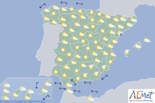 Hoy en España, temperaturas altas en Galicia, valles del Tajo, Guadiana y Guadalquivir