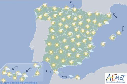 Hoy en España, intervalos de viento fuerte en el Estrecho
