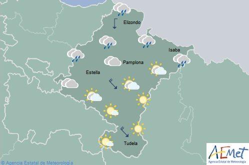 Descenso notable de las temperaturas en Navarra, cielo poco nuboso en el tercio sur
