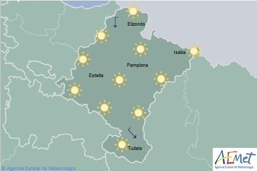 Cielo poco nuboso o despejado en Navarra