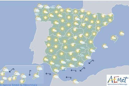 Hoy en España, predominará el tiempo estable con temperaturas al alza