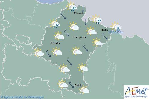 En Navarra descenso de temperaturas, cota de nieve a 2200-2400 metros en Pirineos