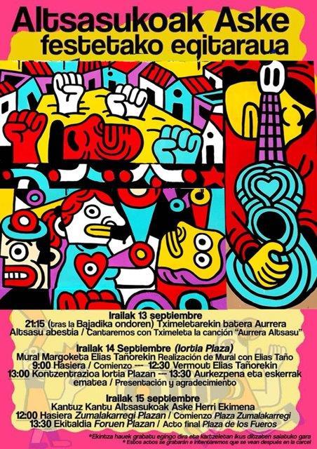 UPN y Ciudadanos rechazan el mural de apoyo a los jóvenes de Alsasua