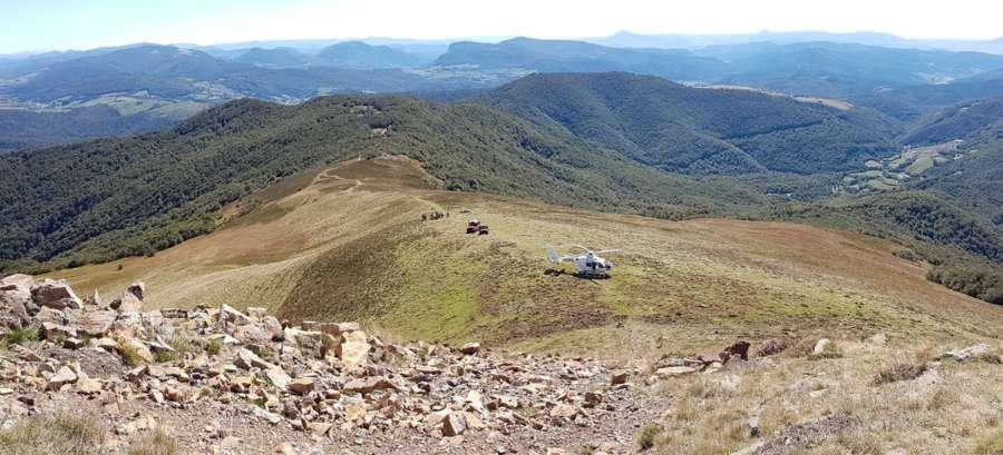 Fallece el hombre rescatado en el monte Adi, un vecino de Cilbeti