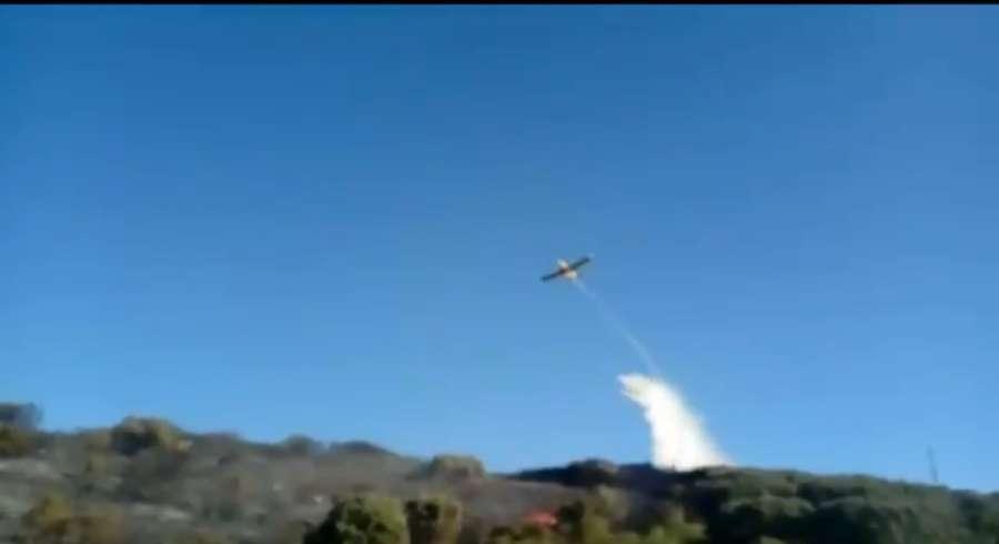 Arden entre 6 y 7 hectáreas en un incendio forestal entre Tafalla y Pueyo