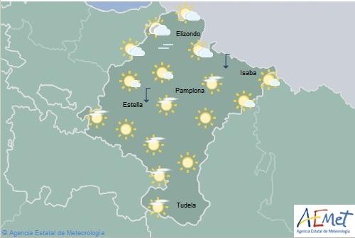 En Navarra temperaturas máximas elevadas