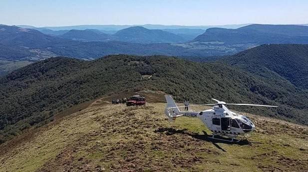La Guardia Civil rescata del monte Adi aun hombre de 74 años