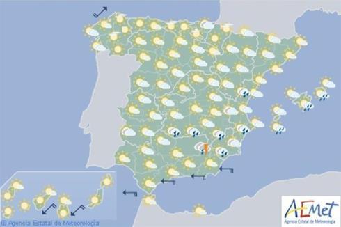 Hoy en España tiempo estable