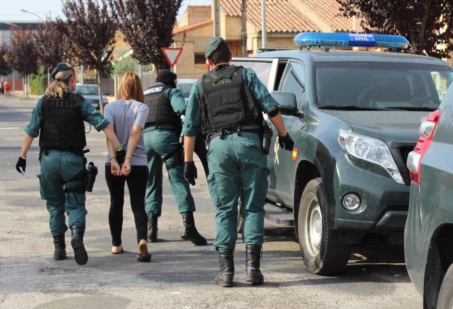 La Guardia Civil de Navarra desarticula dos puntos de ventas de sustancias estupefacientes en la zona de la Ribera