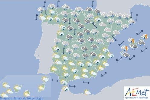 Hoy en España, acusado descenso de temperaturas y nevadas en el norte
