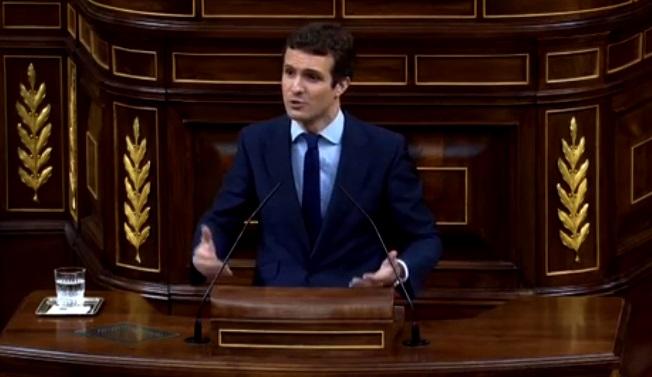"""Casado acusa a Sánchez de """"traición a España"""" por negociar con Torra """"la ruptura de la soberanía"""""""