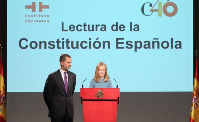 Primeras palabras de la princesa Leonor: España es una Monarquía parlamentaria