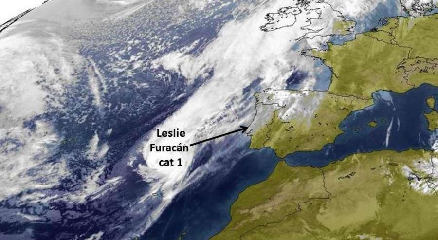 Alerta por lluvias intensas y fuertes vientos en Navarra por la entrada de Leslie