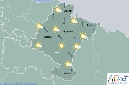 En Navarra cielo poco nuboso, temperaturas sin cambios importantes