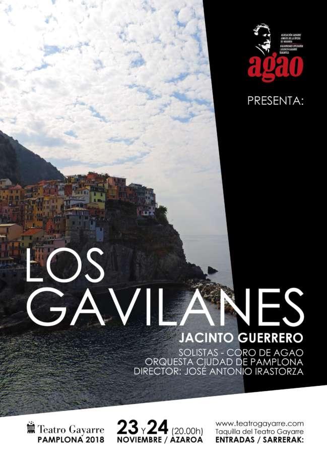 """AGENDA: 23 y 24 de noviembre, en Teatro Gayarre, Zarzuela """"Los Gavilanes"""""""