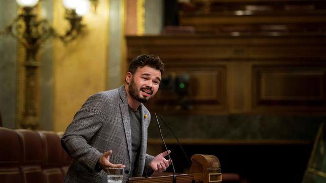 Rufián, expulsado del pleno del Congreso tras un rifirrafe con Josep Borrell