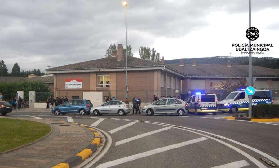 Una mujer herida leve en un atropello en Pamplona