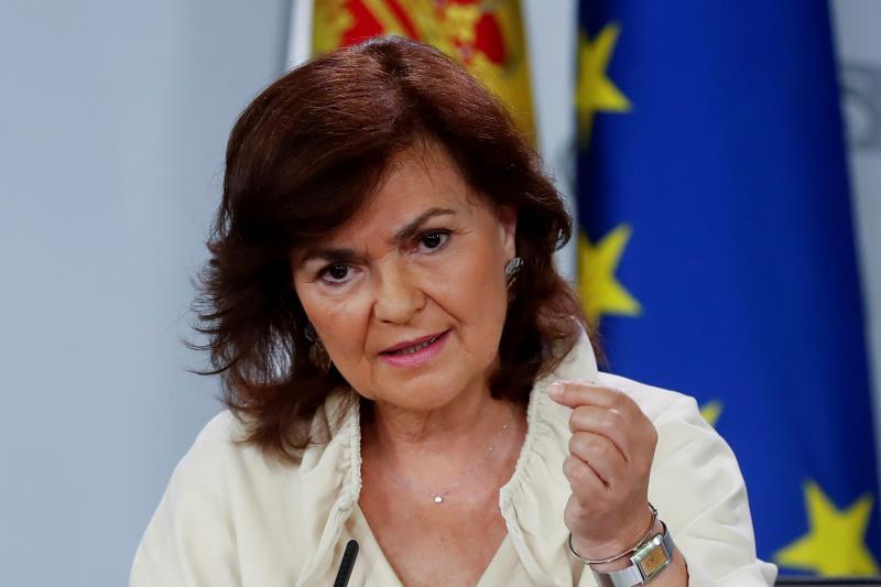 Carmen Calvo pide responsabilidad a los partidos: