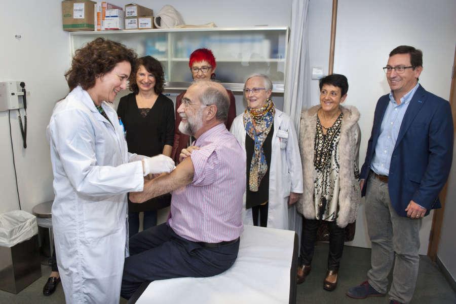 Más de 85.000 personas se han vacunado frente a la gripe en Navarra