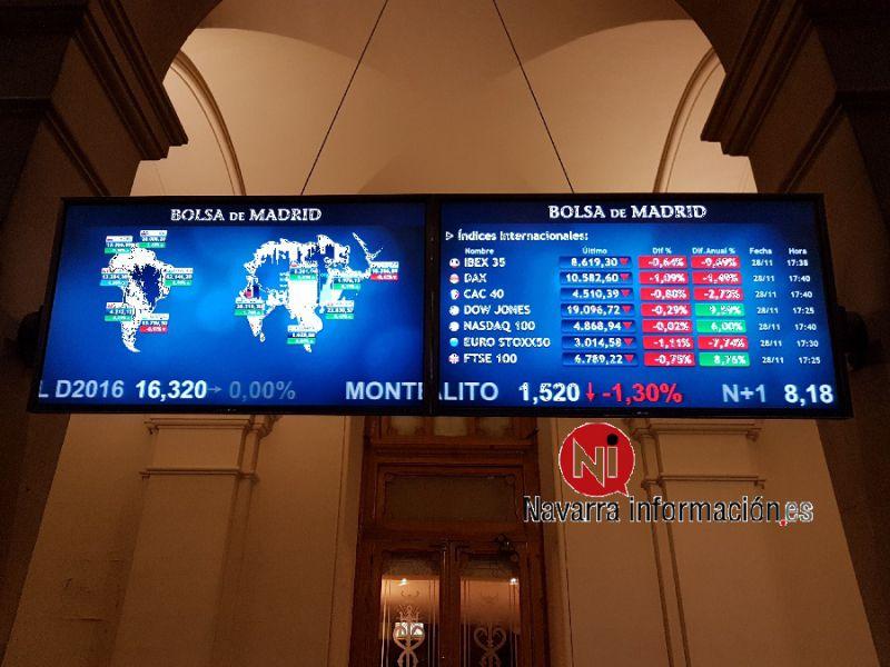 La Bolsa española vuelve a niveles de abril pasado al subir el 1,93 % semanal