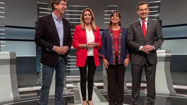 Los líderes cierran la campaña andaluza de tintes nacionales