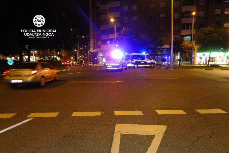 Dos ciclistas implicados en accidentes de tráfico en Pamplona