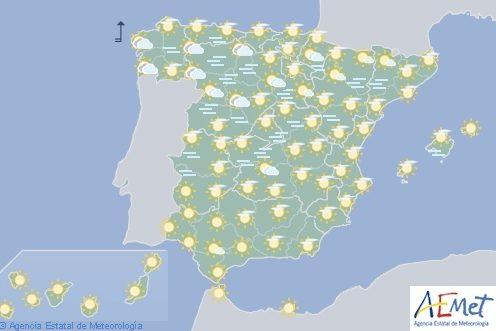 Hoy en España, nieblas persistentes en la Meseta norte e interior de Cataluña
