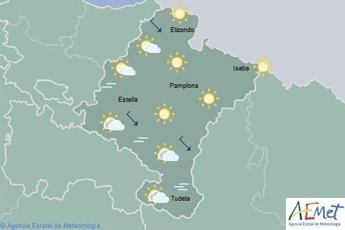 Poco nuboso o despejado en Navarra, cota de nieve entre 1400-1500 metros en Pirineos