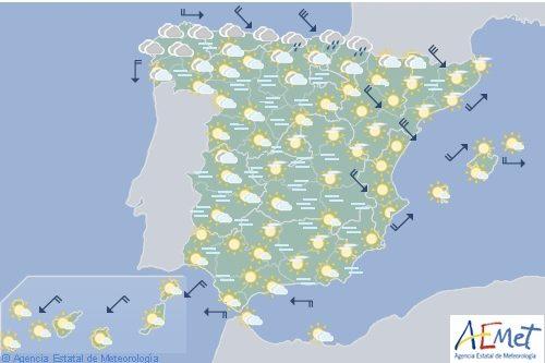 Hoy en España, viento muy fuerte en Pirineos, Ampurdán y bajo Ebro