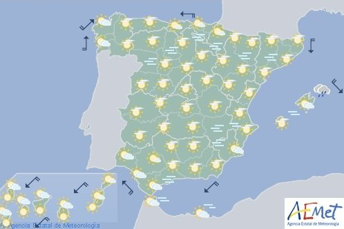 Hoy en España, tiempo estable generalizado
