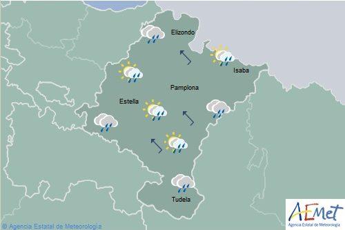 Lluvia en el norte de Navarra, cota de nieve bajará a 1000-1200 m