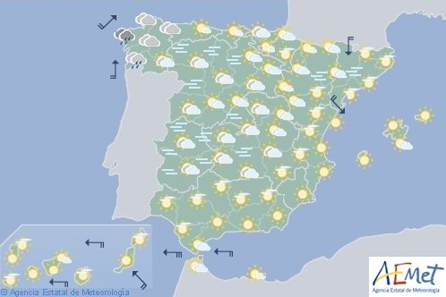 Predominio de tiempo estable en España con nieblas en ambas mesetas