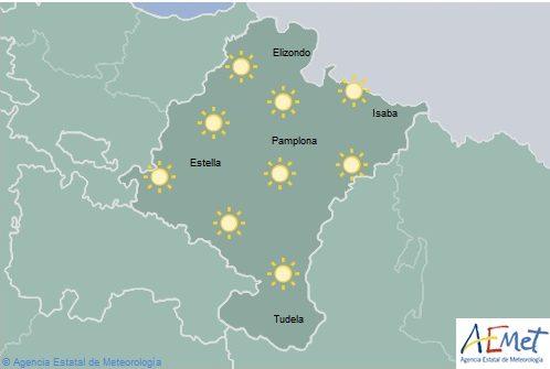 En Navarra cielo despejado con temperaturas en aumento