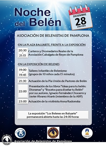 La Noche del Belén, el próximo 28 de diciembre, en Baluarte