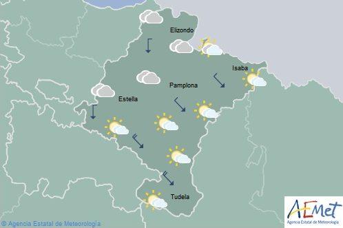 En Navarra temperaturas en aumento, viento de intensidad en la Ribera