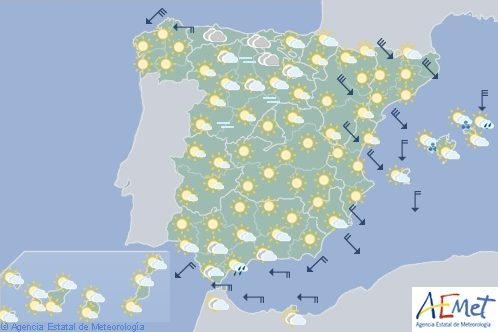 Hoy en España, temperaturas bajas con heladas intensas en Península y Baleares