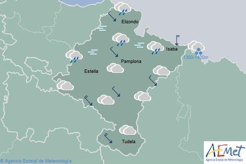 En Navarra nuboso o cubierto con temperaturas máximas sin cambios