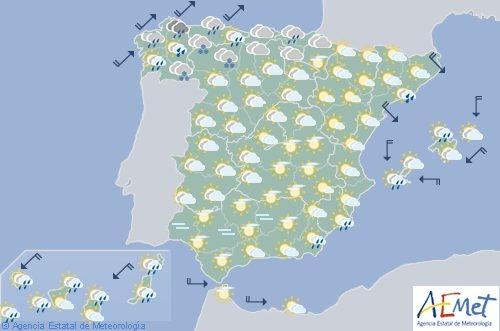 Hoy en España, viento fuerte en el litoral cantábrico, Alborán, Ampurdán y Baleares