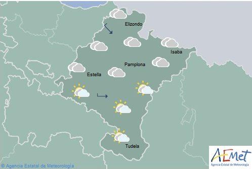 En Navarra aumento de nubosidad y temperaturas con pocos cambios