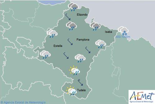 En Navarra nubosos o cubierto con temperaturas máximas en descenso