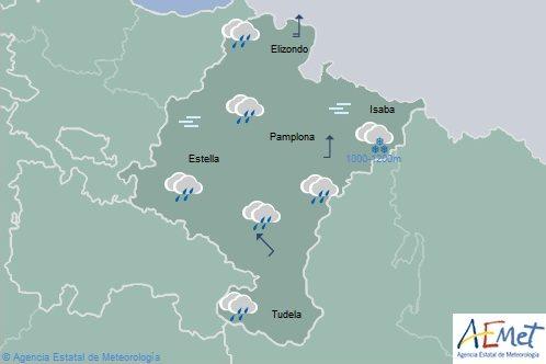En Navarra precipitaciones generalizadas con temperaturas en aumento