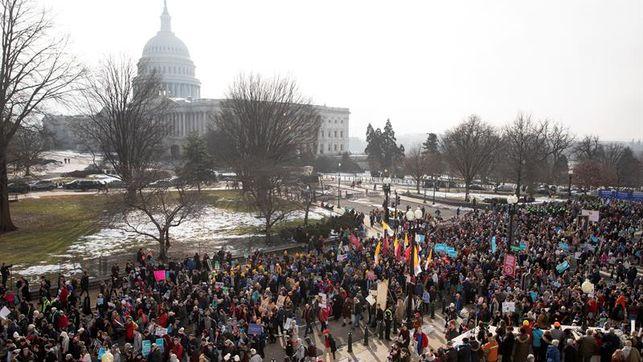 Trump y Pence se suman a una marcha antiabortista para celebrar