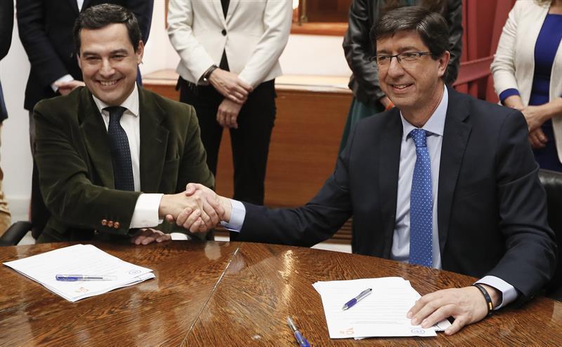 PP y Cs firman el acuerdo de investidura a la espera del apoyo de Vox