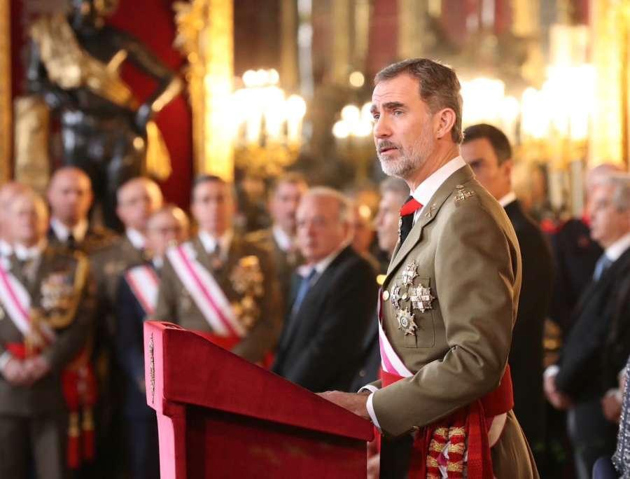 Felipe VI reivindica la bandera como símbolo