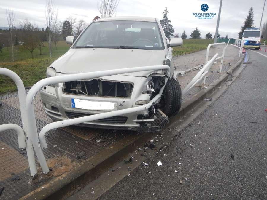 Una mujer herida en un atropello en la calle Irunlarrea de Pamplona