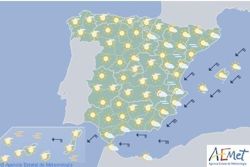 Hoy en España levante fuerte en el Estrecho
