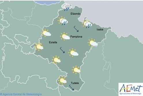 Intervalos nubosos en Navarra, temperaturas sin cambios