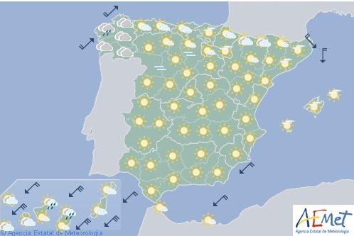 Hoy en España, viento fuerte en Canarias y temperaturas máximas en ascenso